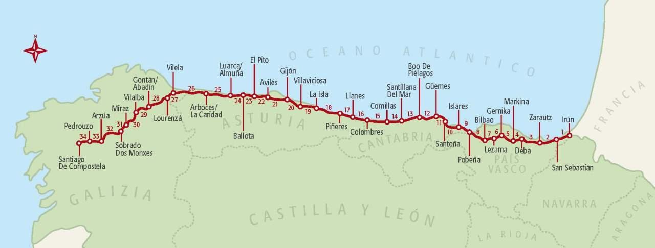 Santiago de Compostela – Il cammino delNord
