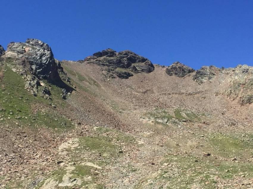 Vista della P.ta Ercavallo dalla vallata